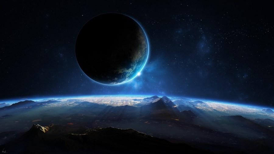 Moon, Earth and Stars
