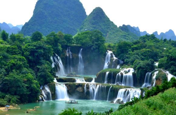 Detian Waterfall HD Wallpaper