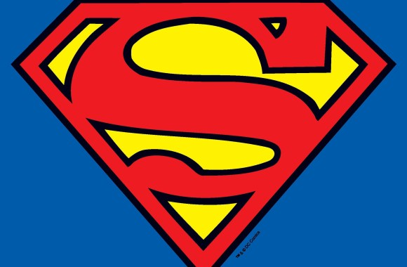 Classic Superman Logo HD Wallpaper