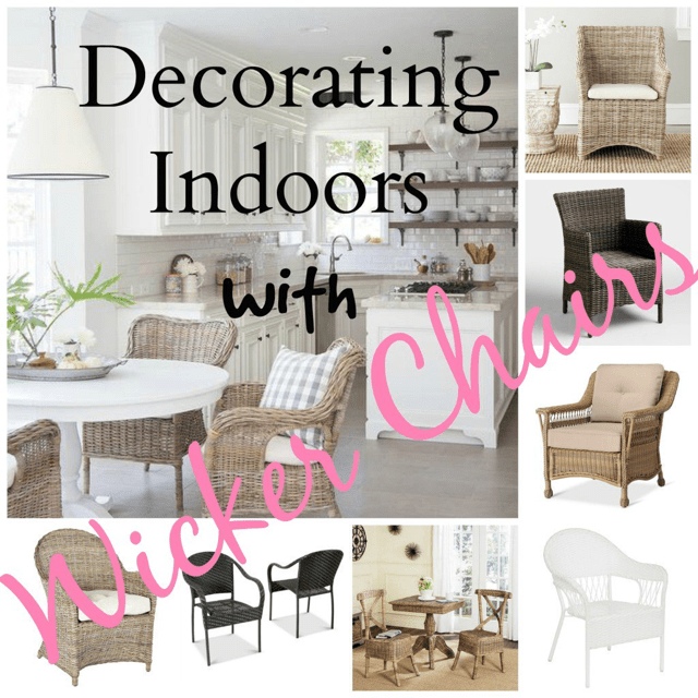 Decorating Indoors with Wicker Chairs - Walls of Wonderland