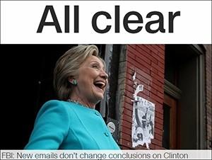 CNN Digital Front Page, Sunday, November 6, 2016, 4:33 P.M.