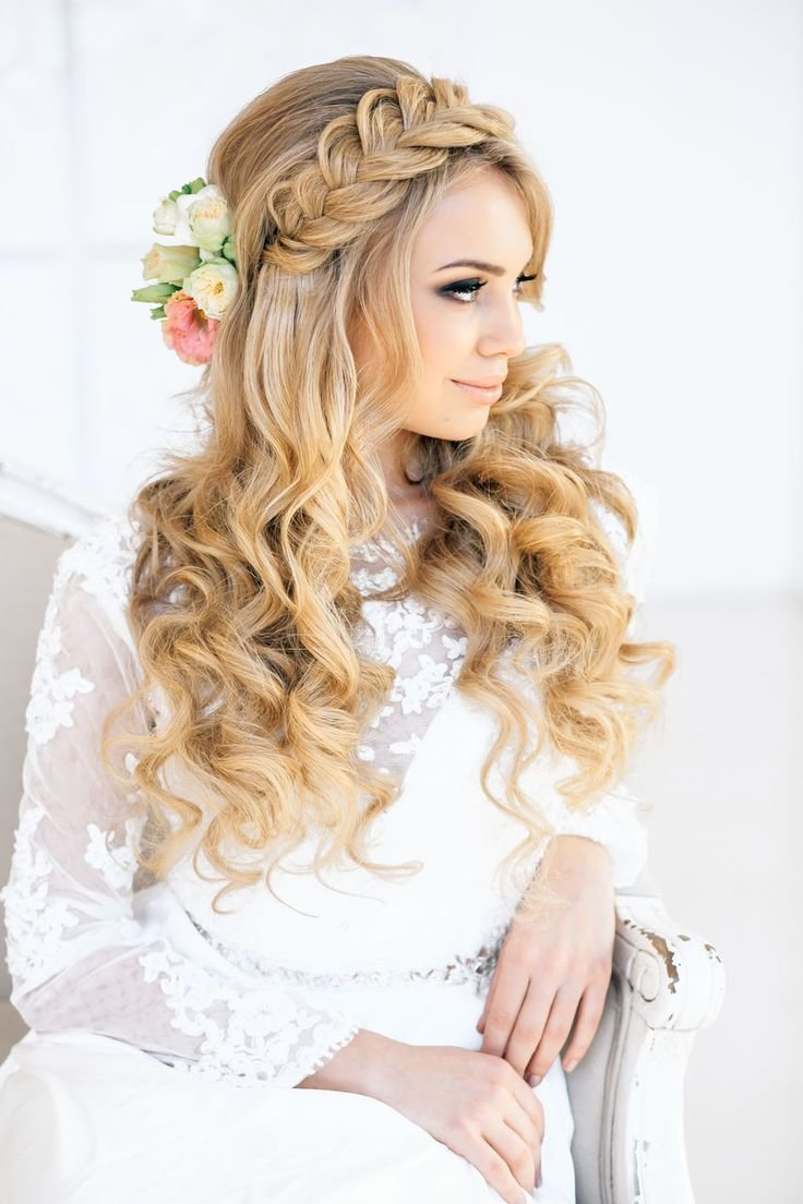 New Romantic Braid And Curls Via Elstile Ru The Merry Bride Ideas With Pictures