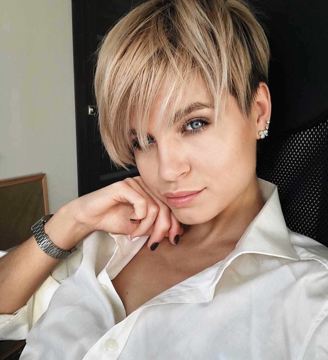 New 60 Short Hairstyles For Round Faces 2018 2019 » Hairstyle Samples Ideas With Pictures