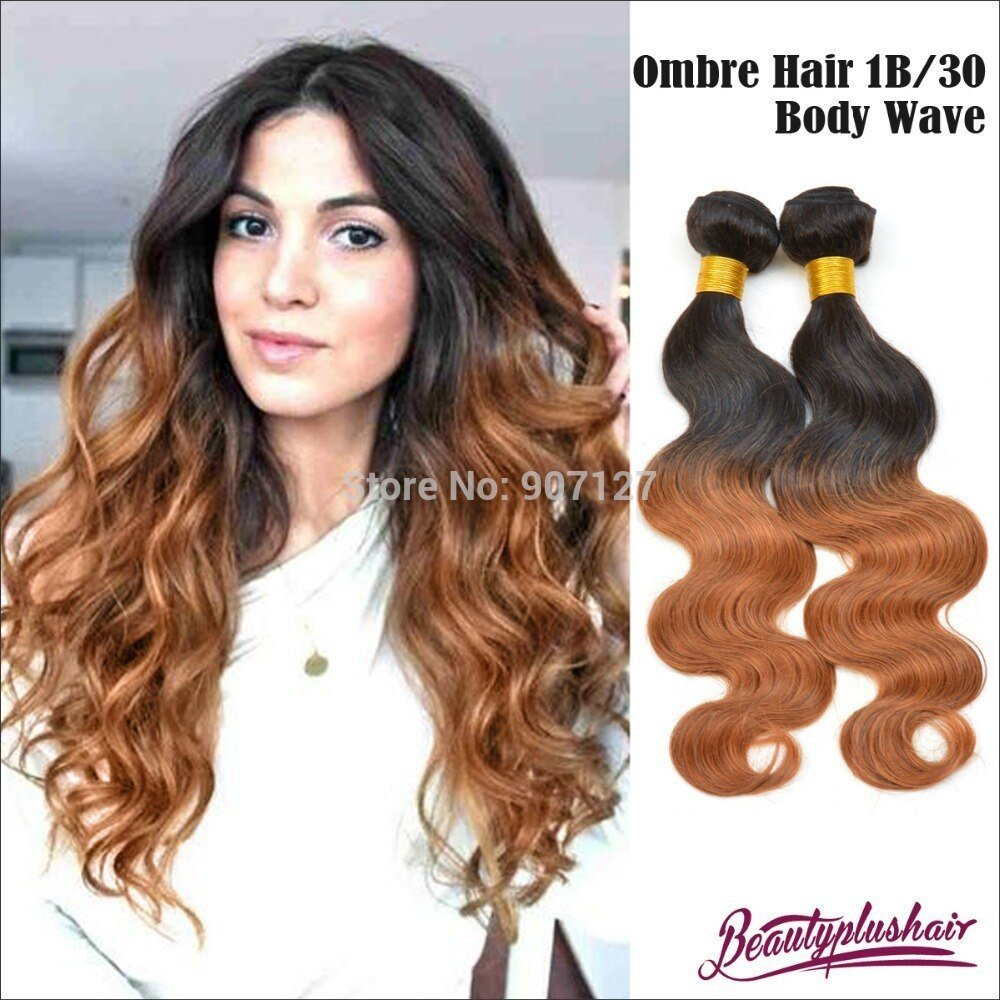 New 2Pcs Lot Ombre Brazilian Hair Weave Body Wave Brazilian Ideas With Pictures