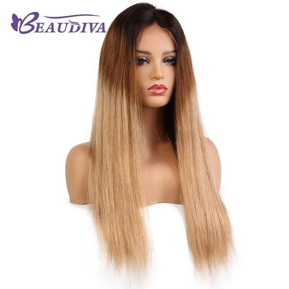 New Beaudiva Pre Colored T1B 4 27 Ombre Human Hair Wigs Ombre Ideas With Pictures