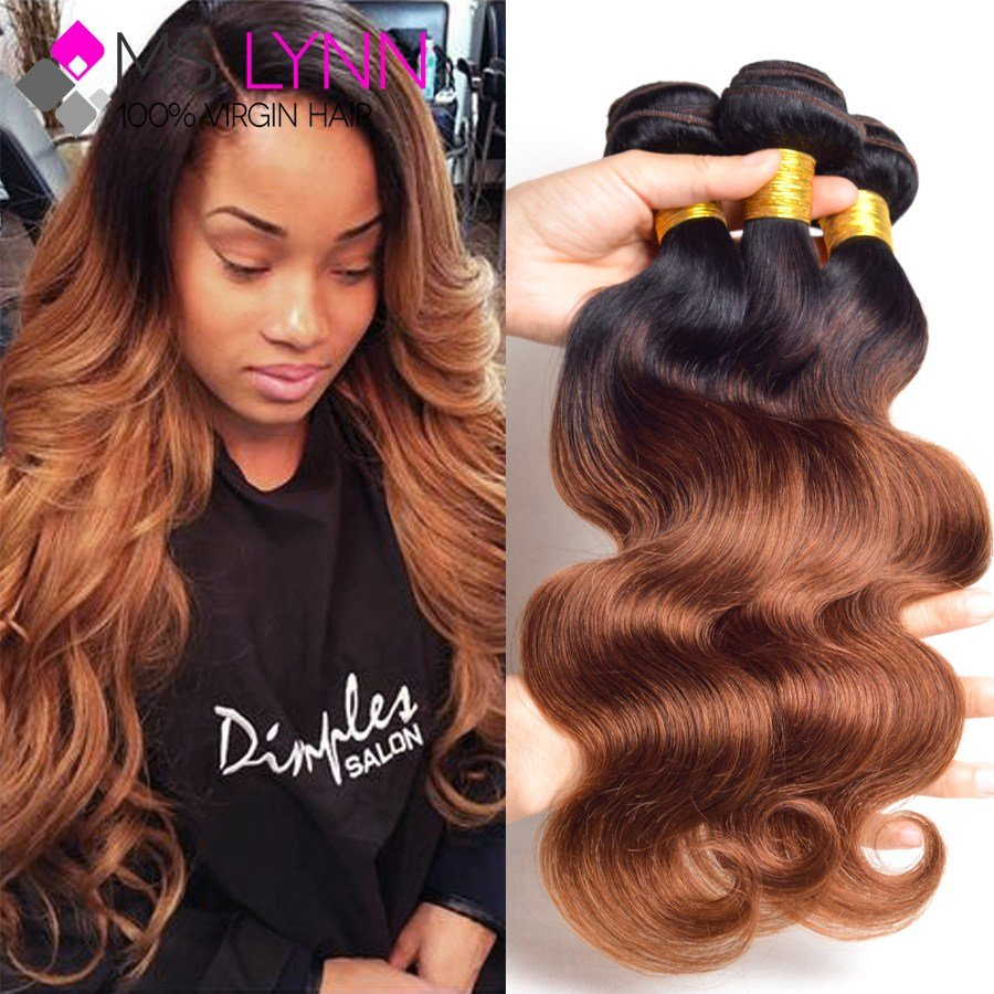 New 7A Grade Brazilian Body Wave 3 Bundles Ombre Human Hair Ideas With Pictures