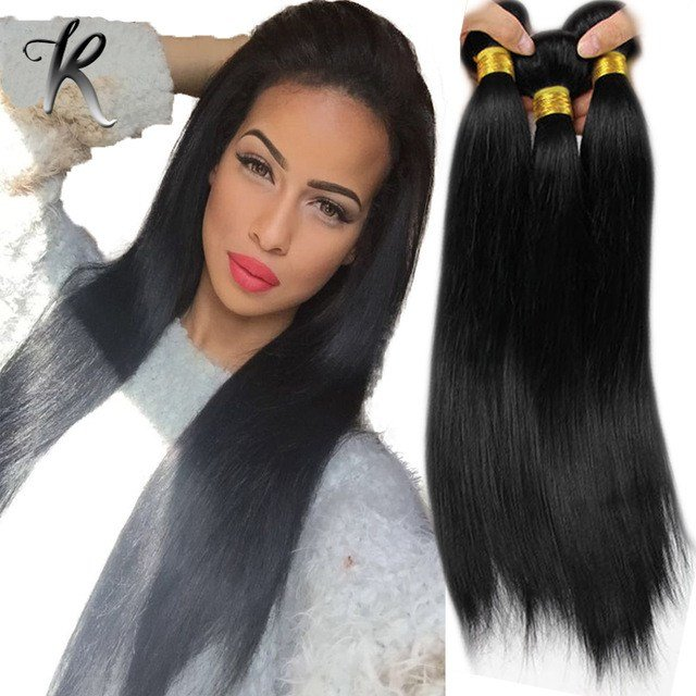 New Silky Straight Malaysian Hair Weave 4Pcs Jet Black Color Ideas With Pictures