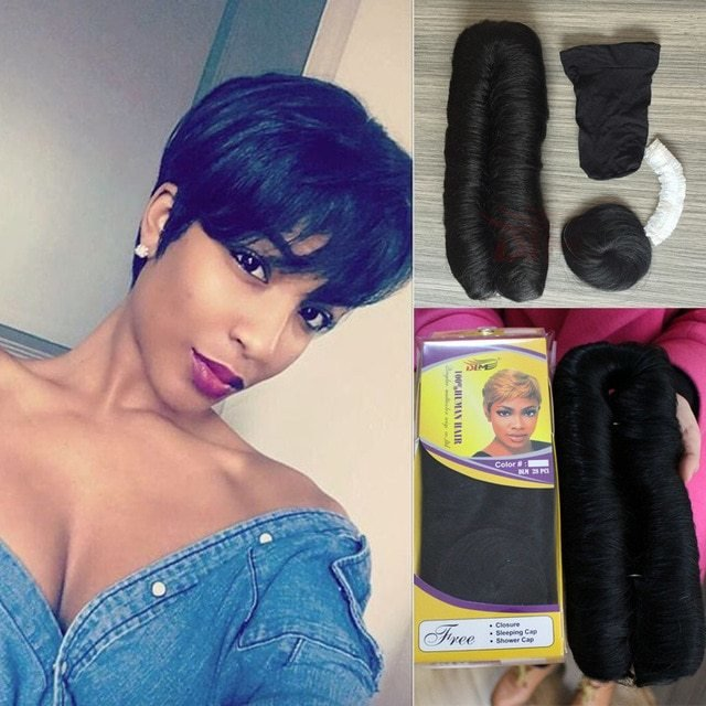 New 28 Pieces Short Real Human Hair Extensions Malaysian Ideas With Pictures