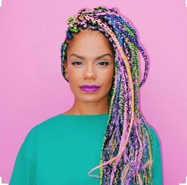 New Mixed Colored Braids Every Lady Should Try Out Fabwoman Ideas With Pictures