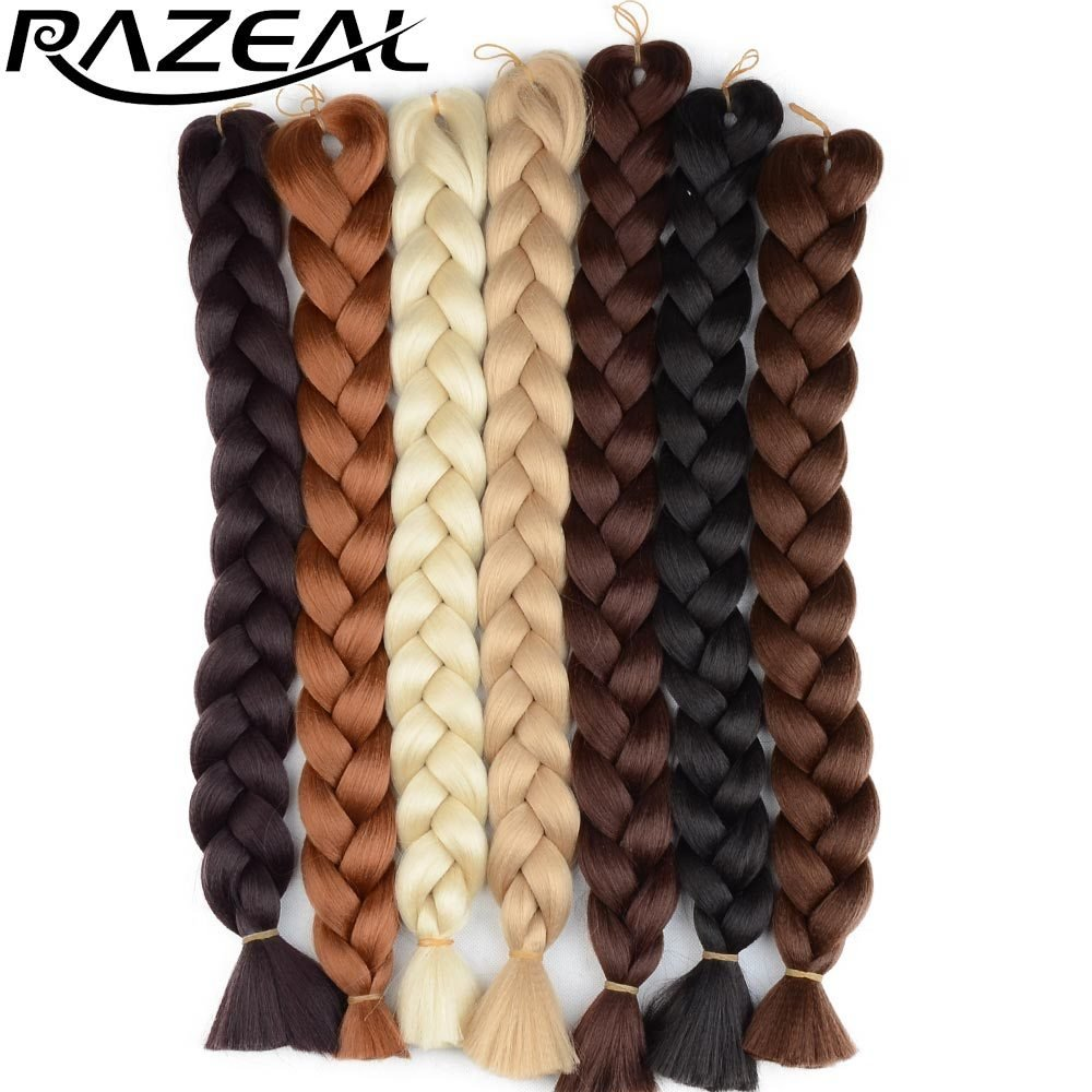 New Razeal 48Inch 105G Pack Jumbo Kanekalon Braiding Hair Ideas With Pictures