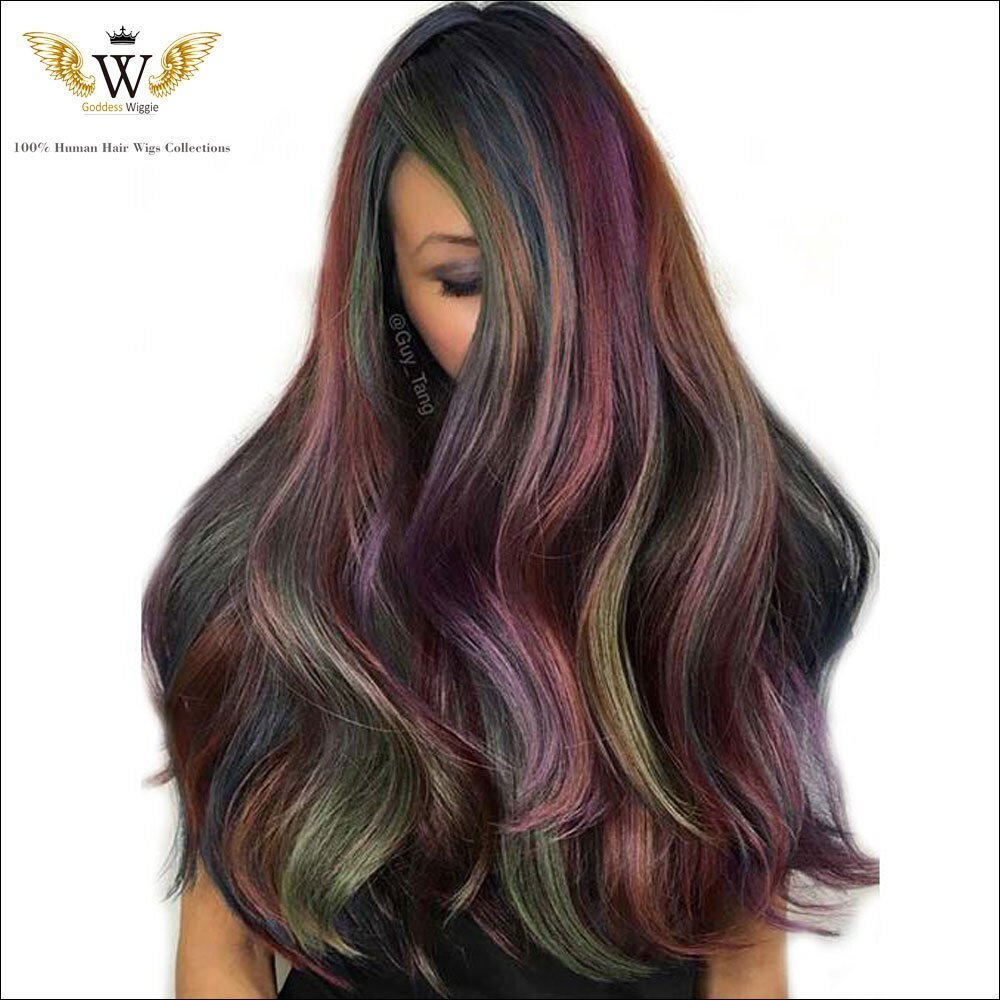 New 5A 180Density Highlight Lace Front Colored Human Hair Wigs Ideas With Pictures