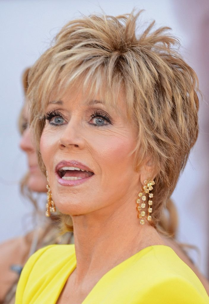 New More Pics Of Jane Fonda Diamond Chandelier Earrings Hair Ideas With Pictures