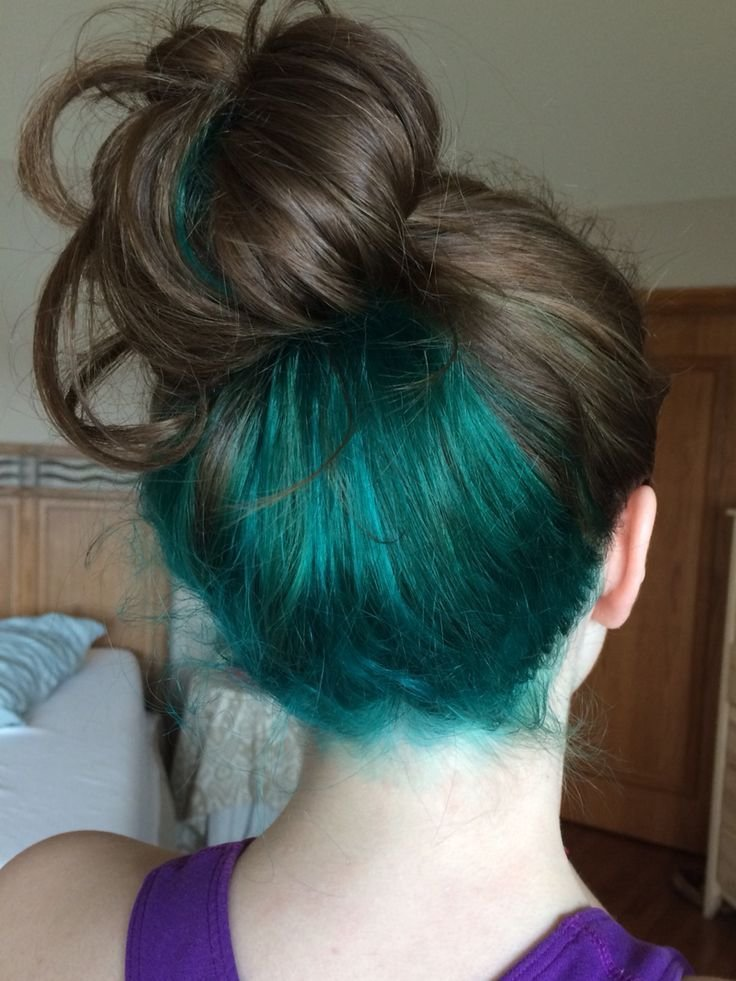 New Best 25 Blue Hair Underneath Ideas On Pinterest Dyed Ideas With Pictures