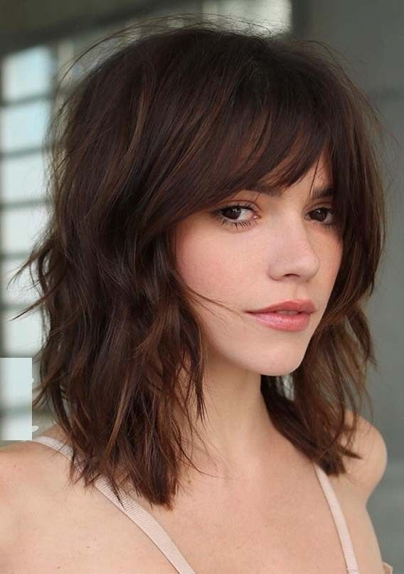 New Ridiculous Medium Length Haircuts With Bangs In 2019 Ideas With Pictures