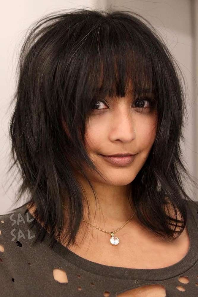 New Best 25 Medium Hairstyles With Bangs Ideas On Pinterest Ideas With Pictures
