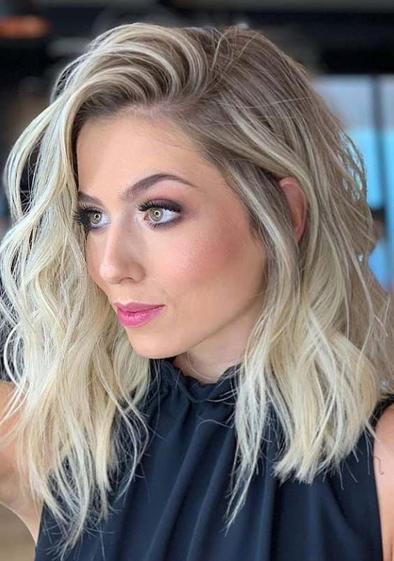 New Gorgeous Medium Length Blonde Hairstyles Haircuts In Ideas With Pictures
