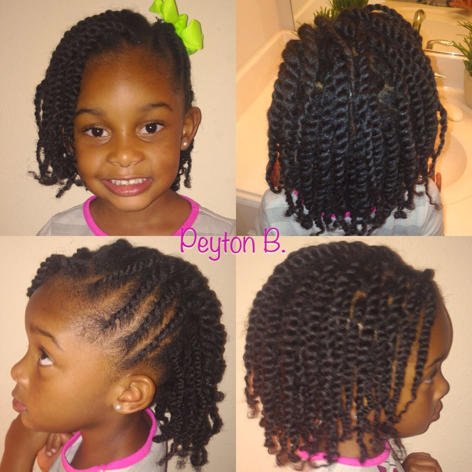 New Two Strand Twist With Side Flat Twist Natural Hairstyle Ideas With Pictures
