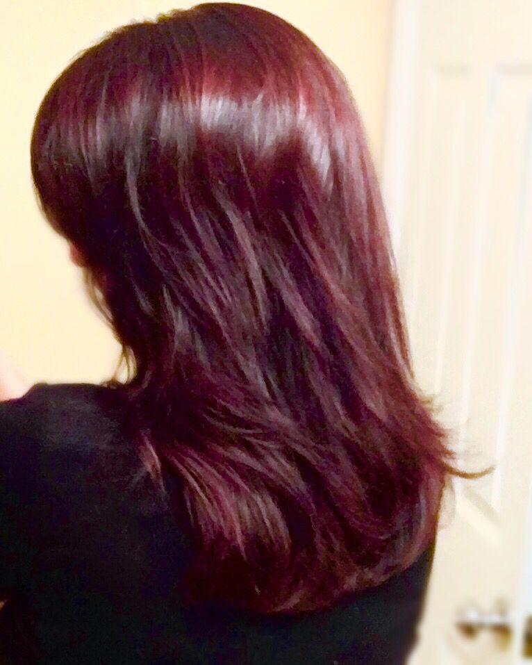 New Red Red Wine Red Hair Wella Koleston Perfect And Redken Ideas With Pictures