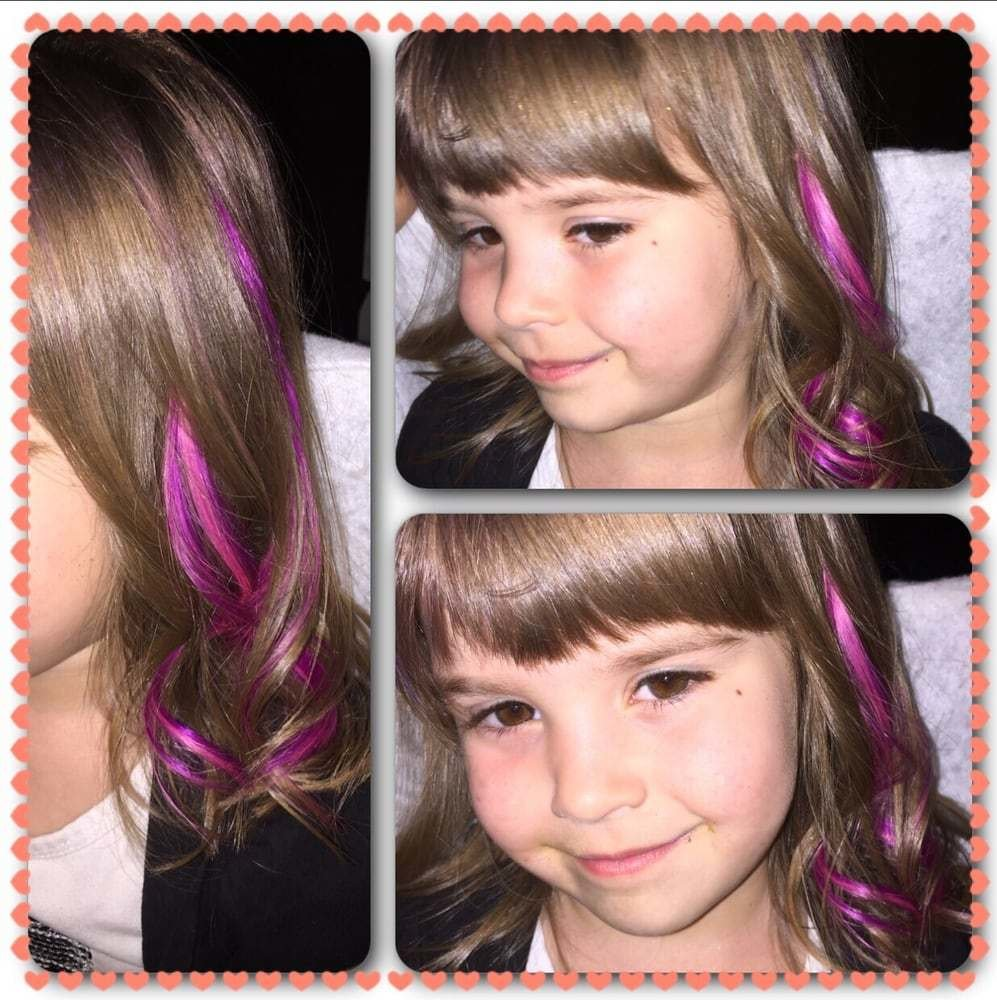 New Hotheads Hair Extensions On Kids Adds A Lil Pop Of Color Ideas With Pictures