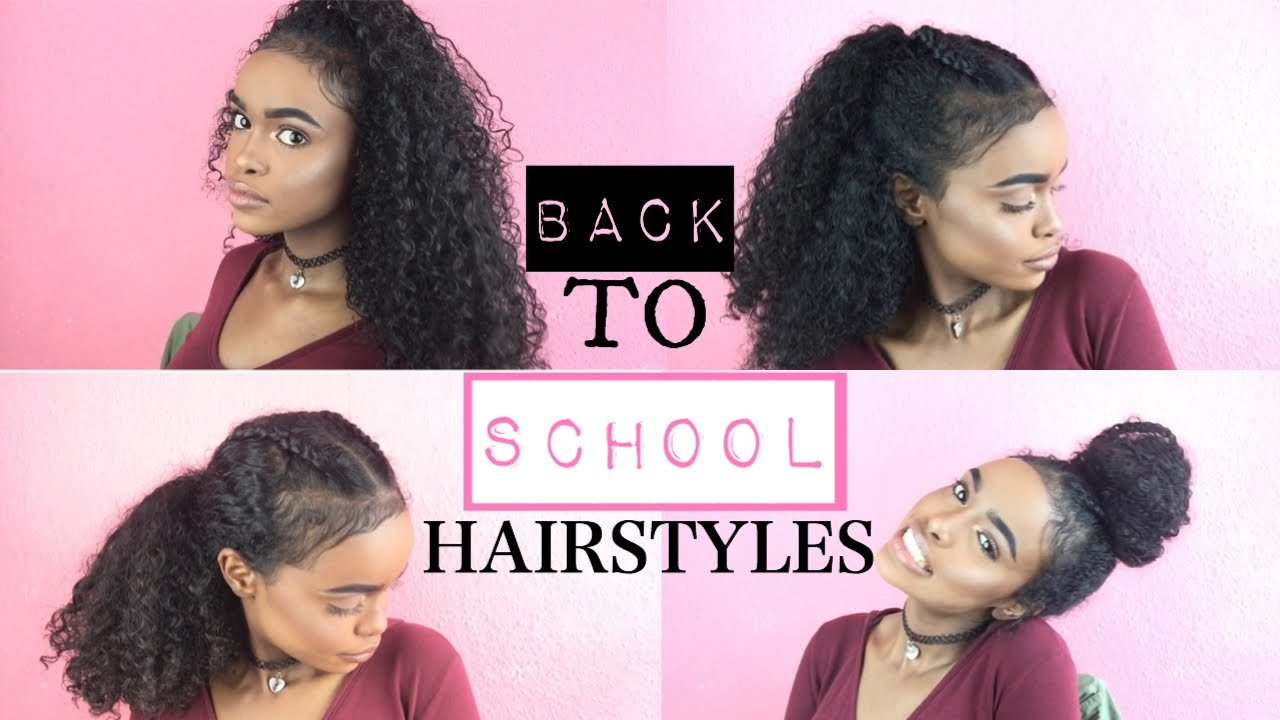New Back To School Hairstyles For Curly Hair Halssa Youtube Ideas With Pictures