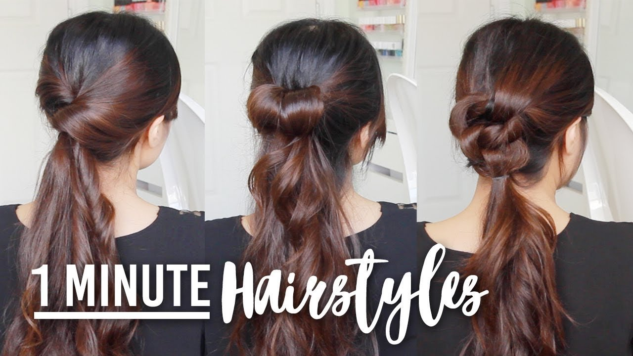 New 1 Minute Running Late Hairstyles Quick Easy Hair Ideas With Pictures