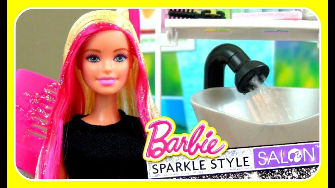 New Barbie Sparkle Style Salon Comb On Glitter Real Working Ideas With Pictures Original 1024 x 768