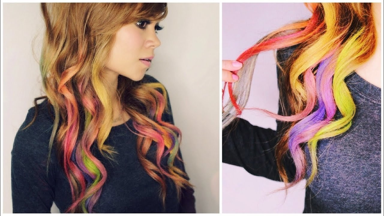 New How To Color Your Hair With Eyeshadow Rainbow Loom Hair Ideas With Pictures