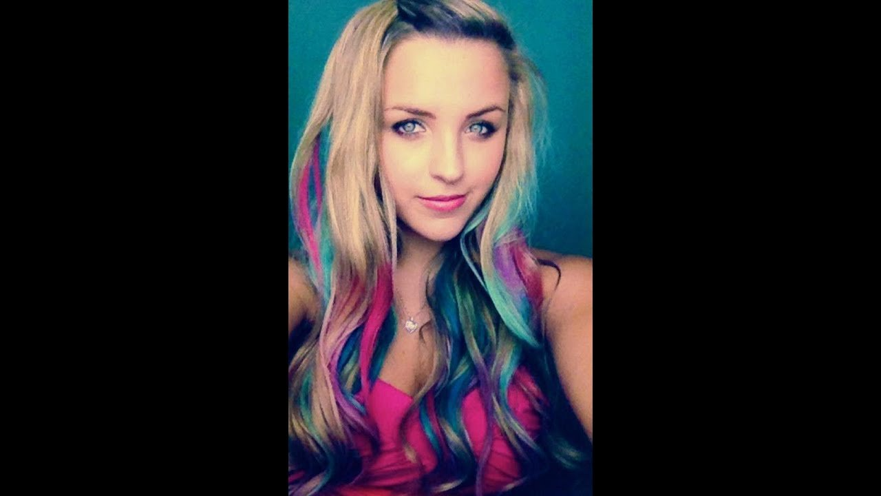 New Colorful Hair For Spring Without Dye Youtube Ideas With Pictures