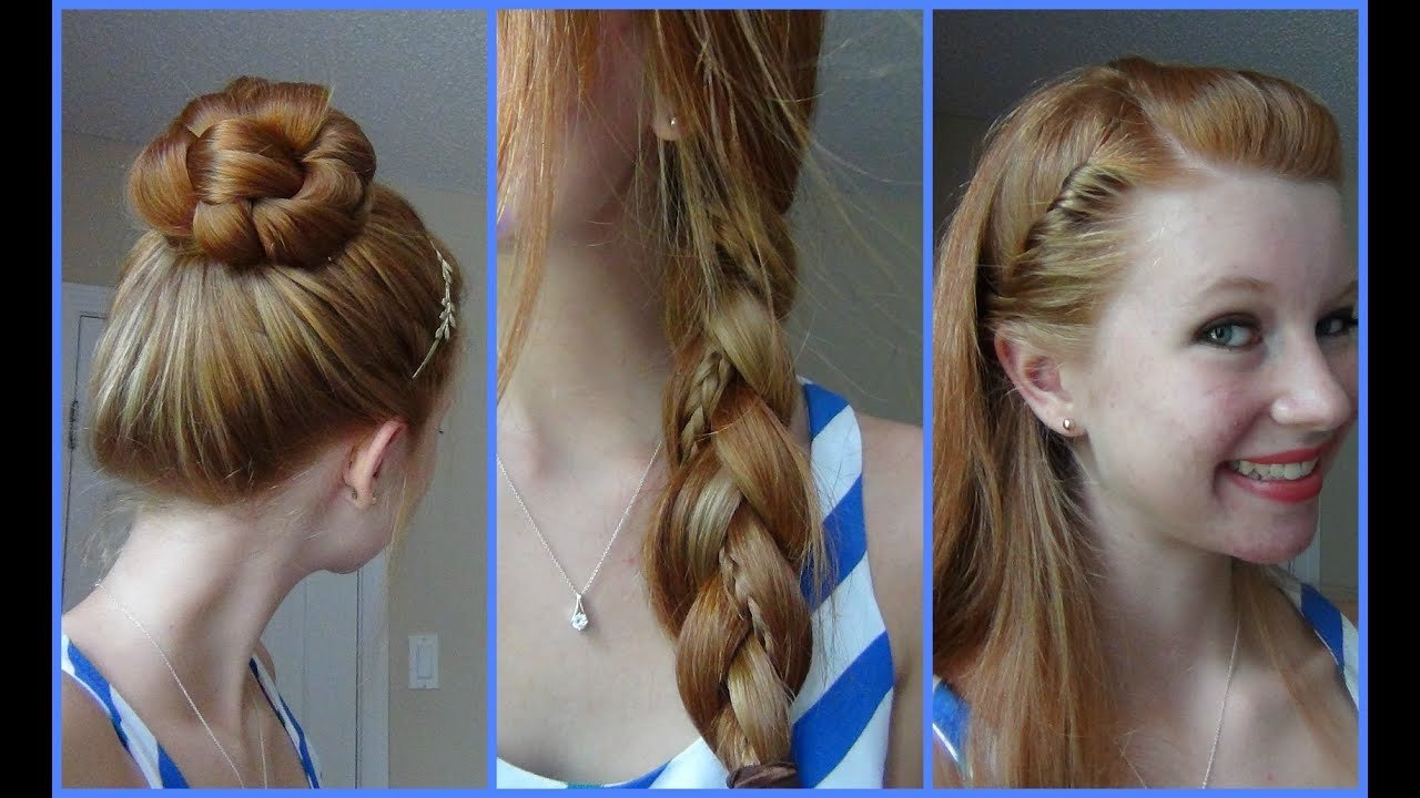 New 3 Simple Quick And Easy Back To School Hairstyles Youtube Ideas With Pictures