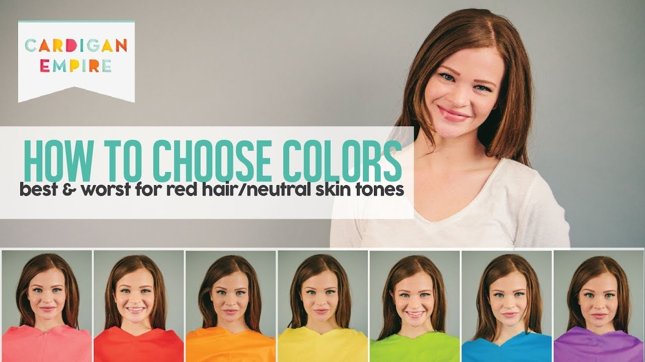 New How To Wear The Right Colors For Your Skin Tone Red Hair Ideas With Pictures