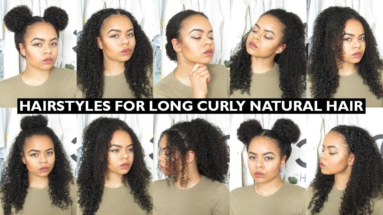 New 7 Easy Everyday Hairstyles For Natural Curly Hair Youtube Ideas With Pictures