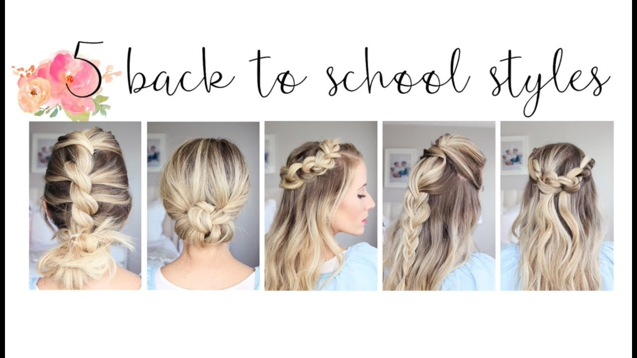 New 5 Easy Back To School Hairstyles Cute Girls Hairstyles Ideas With Pictures