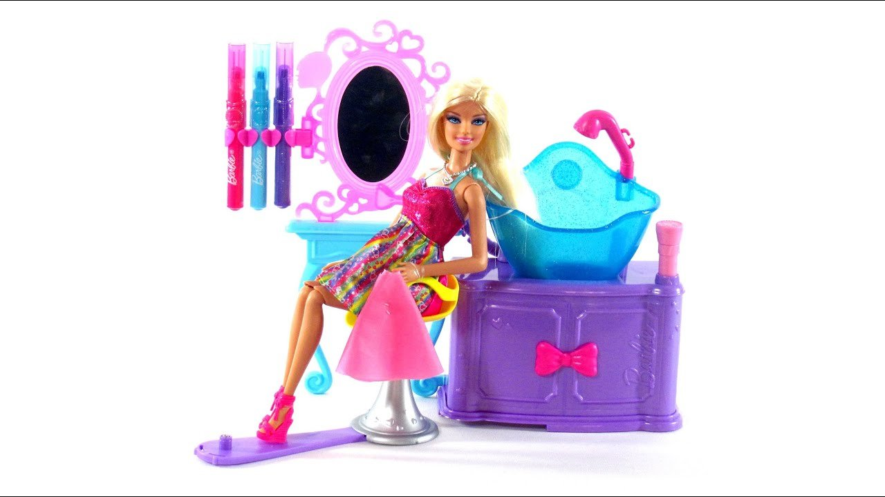 New Barbie Toys Hairtastic Color And Wash Salon Toy Review Ideas With Pictures Original 1024 x 768
