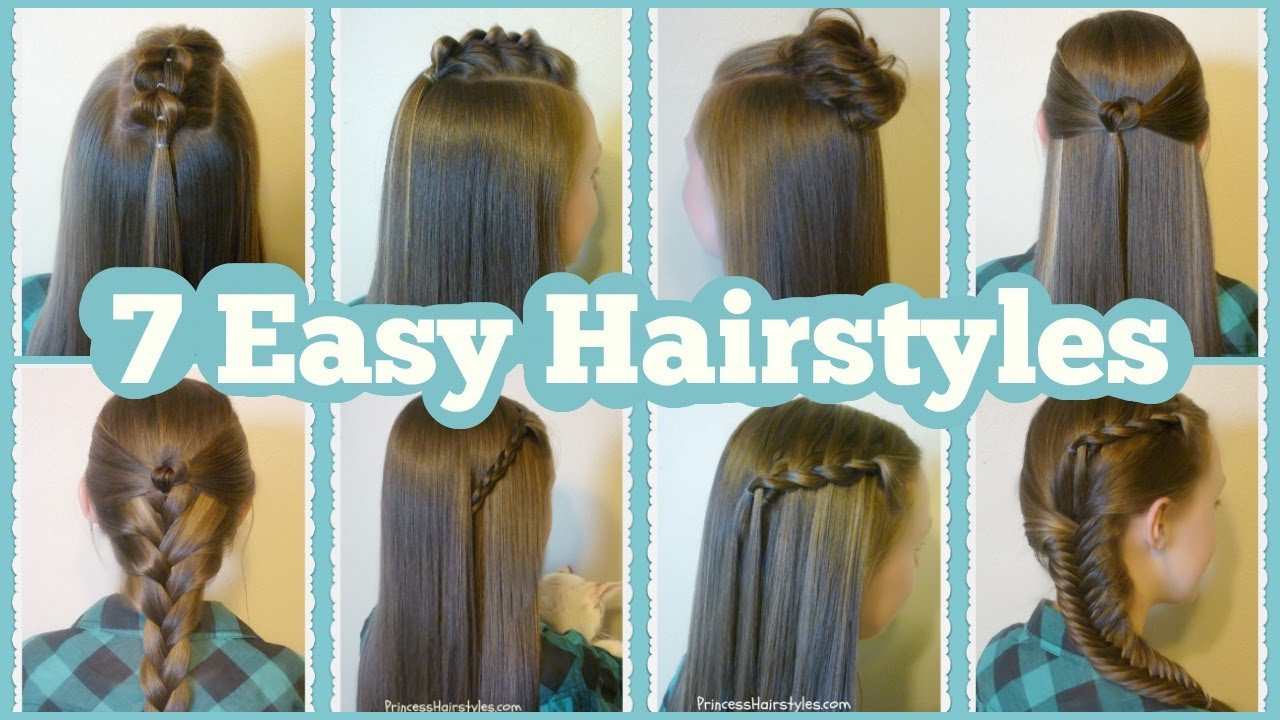 New 7 Quick And Easy Hairstyles For School Youtube Ideas With Pictures