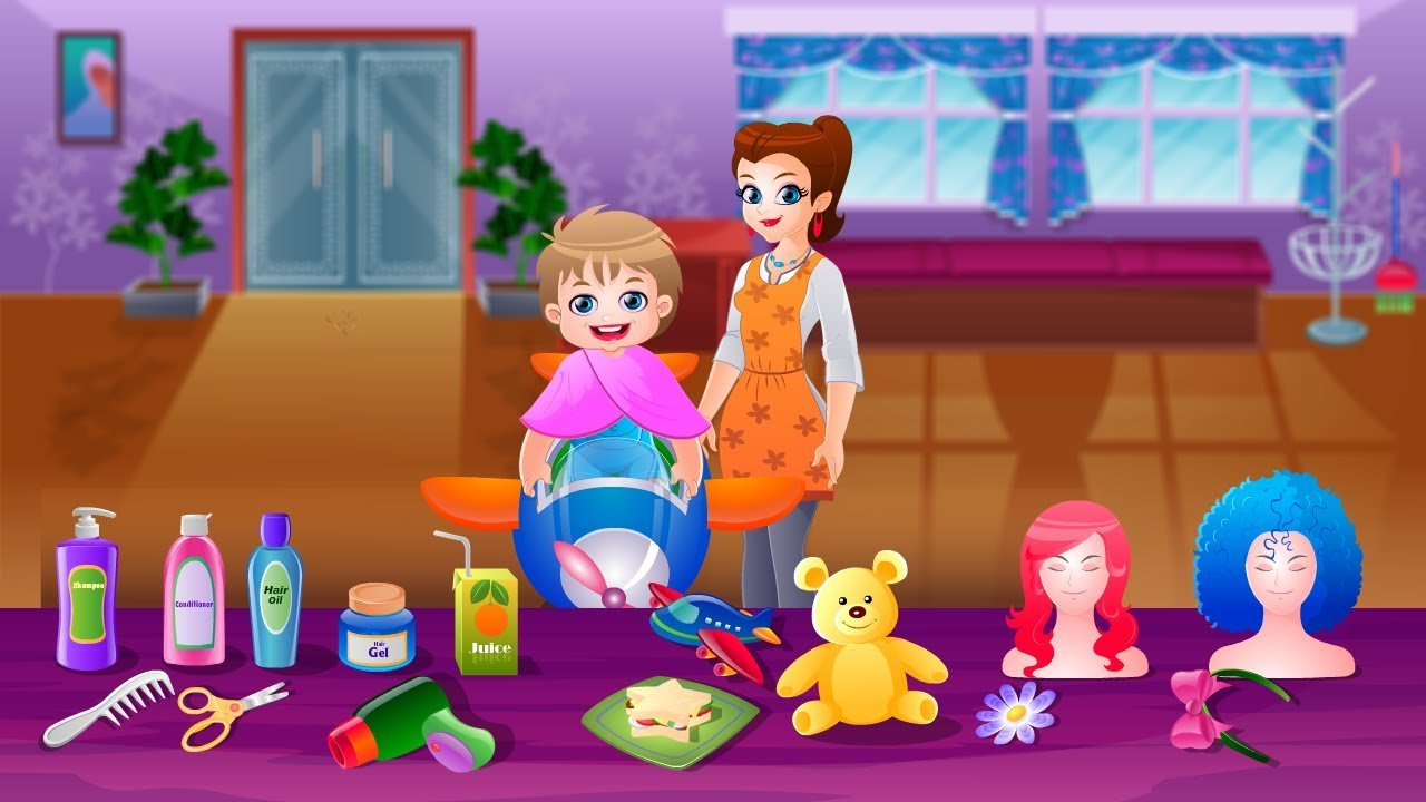 New Kids Hair Salon Game Movie By Top Baby Games Kids Games To Play Hairstyles For Girls And Ideas With Pictures