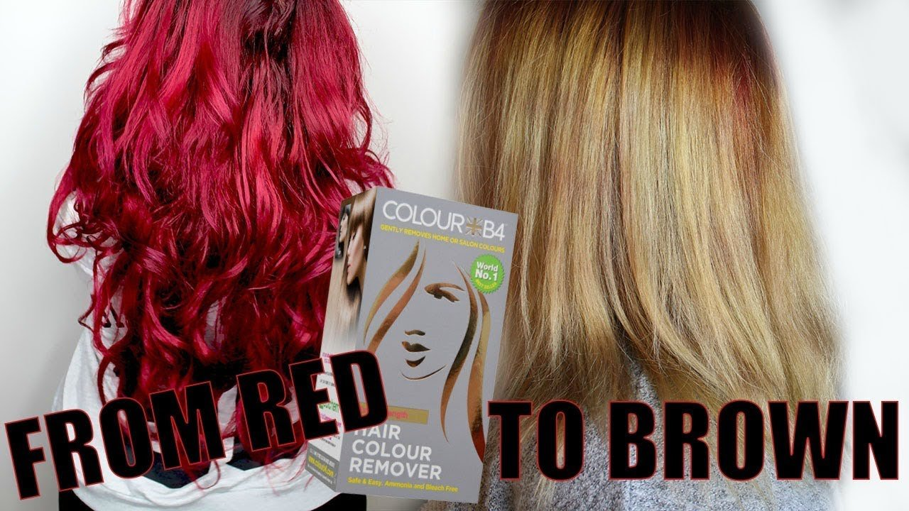 New From Red To Blonde With Hair Color Remover Color B4 Youtube Ideas With Pictures