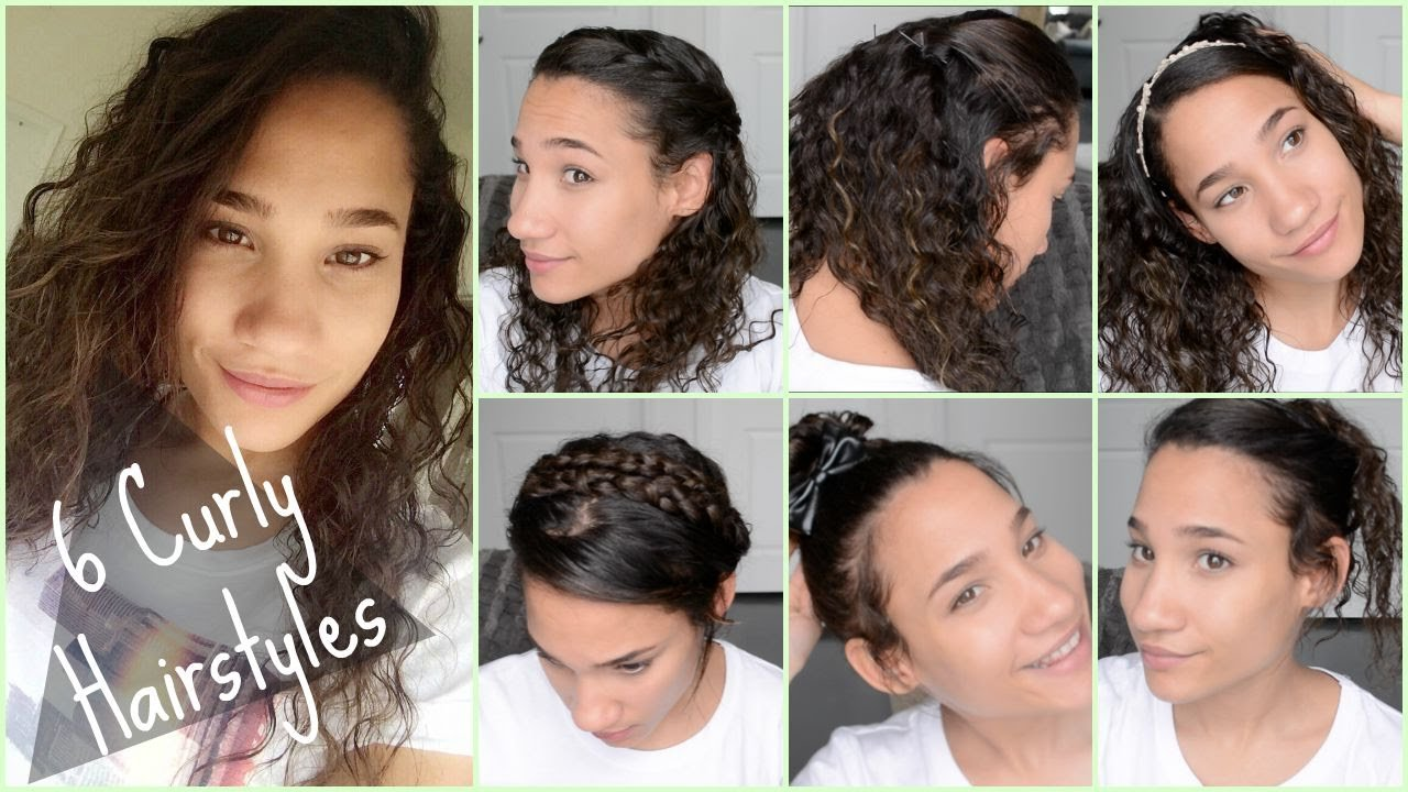 New 6 Cute Curly Hairstyles For Back To School 2015 Quick Ideas With Pictures