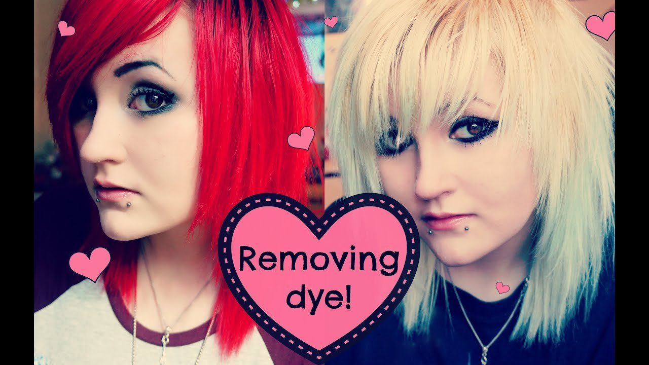 New How I Fade Remove My Hair Dye ♥ Youtube Ideas With Pictures