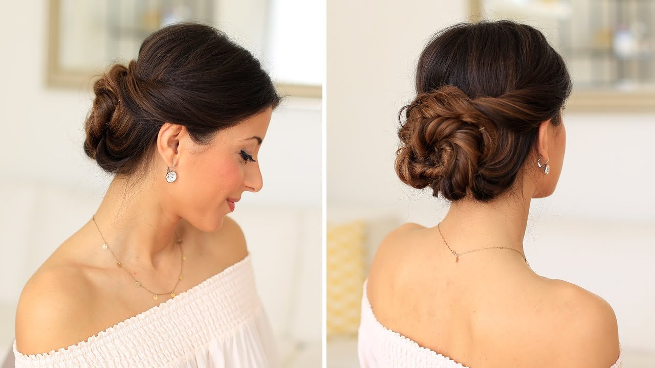New 2 Minute Elegant Bun Hair Tutorial Luxy Hair Youtube Ideas With Pictures