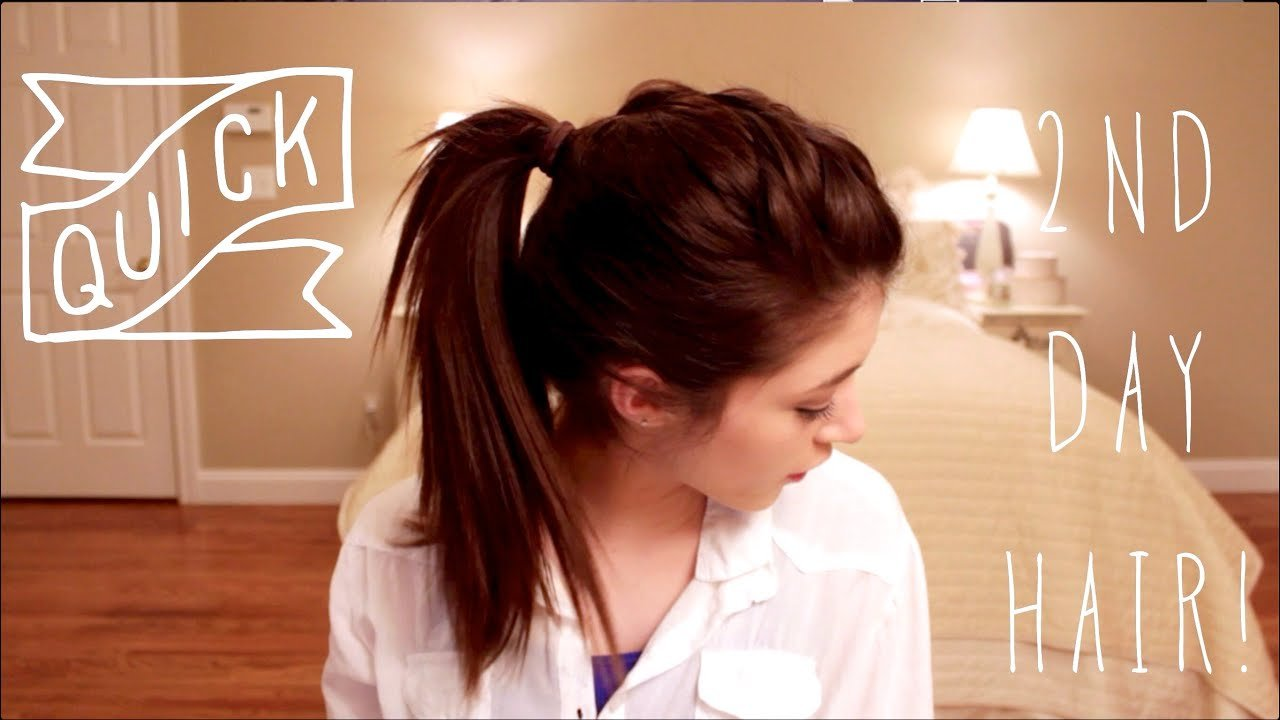 New Quick Second Day Hairstyles Youtube Ideas With Pictures