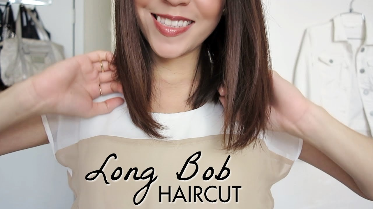 New Long Bob Haircut Tutorial How To Cut Your Own Hair Ideas With Pictures