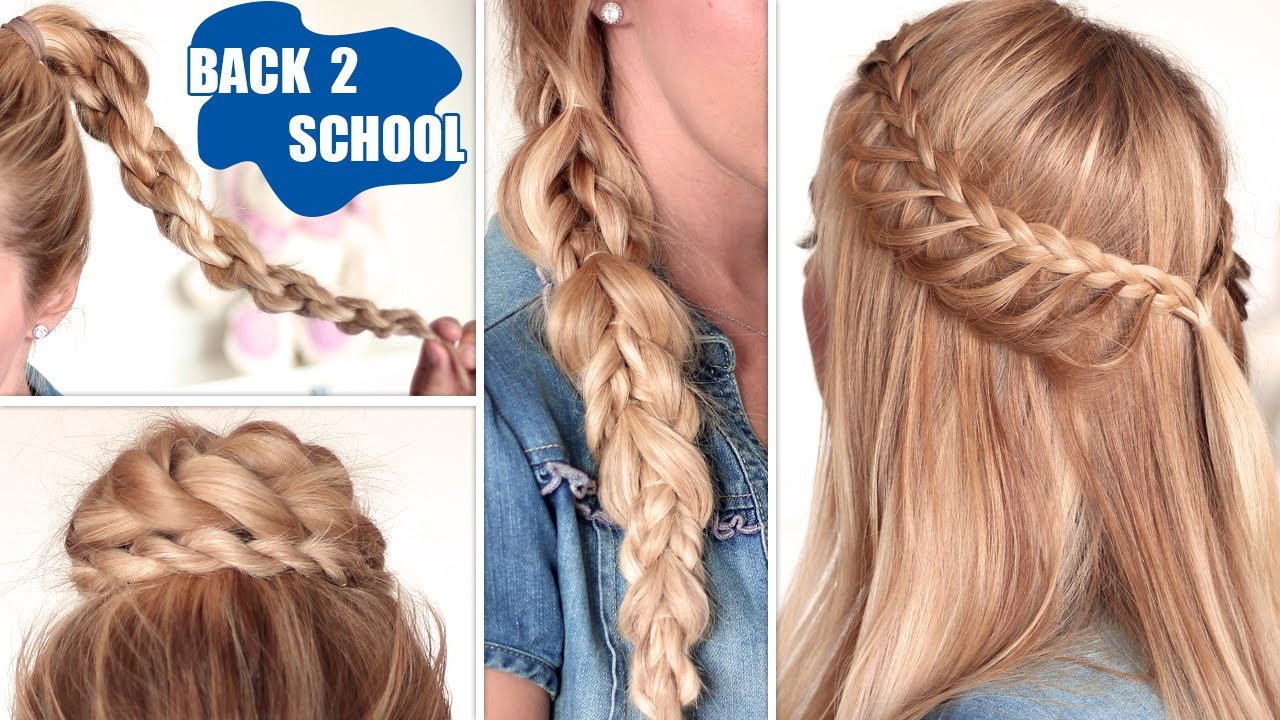 New Easy Back To School Hairstyles ★ Cute Quick And Easy Ideas With Pictures