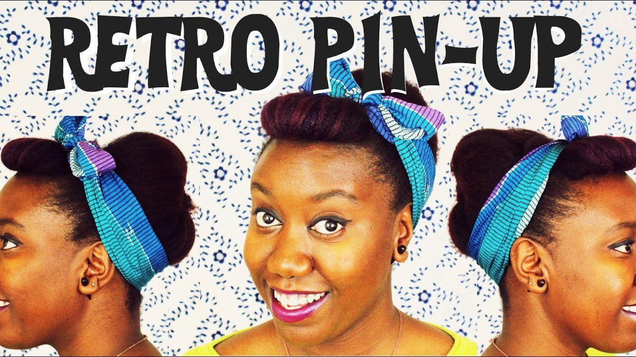 New Retro Pin Up Natural Hair Youtube Ideas With Pictures