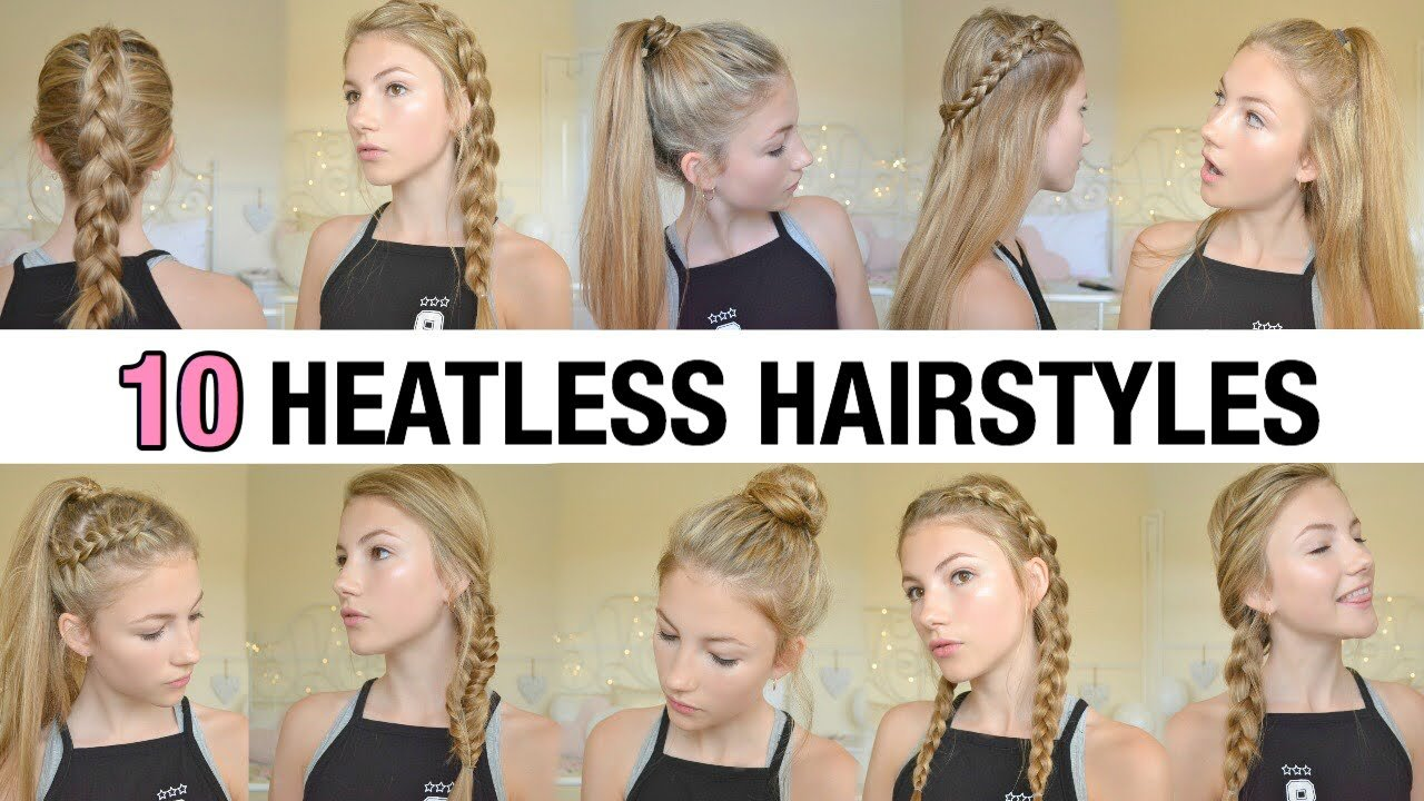 New 10 Back To School Heatless Hairstyles Youtube Ideas With Pictures