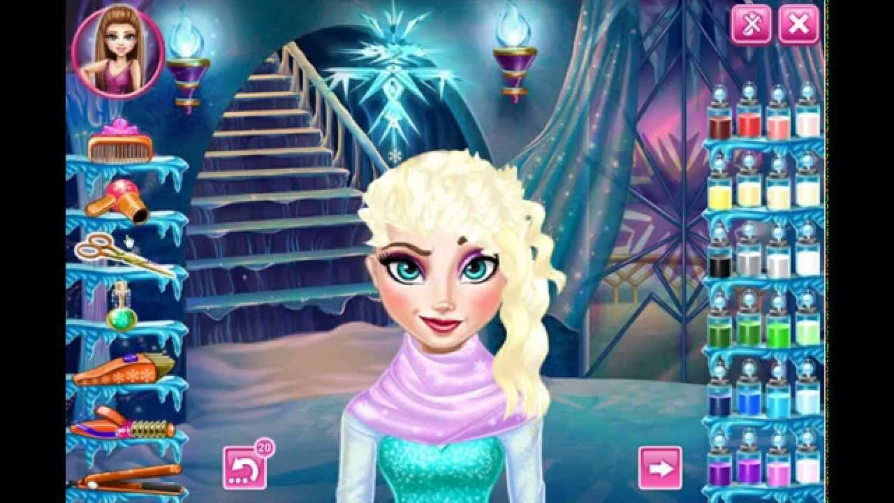 New Frozen Game Disney Elsa Real Haircut Dress Up Makeover Fun To Play Free Online Youtube Ideas With Pictures