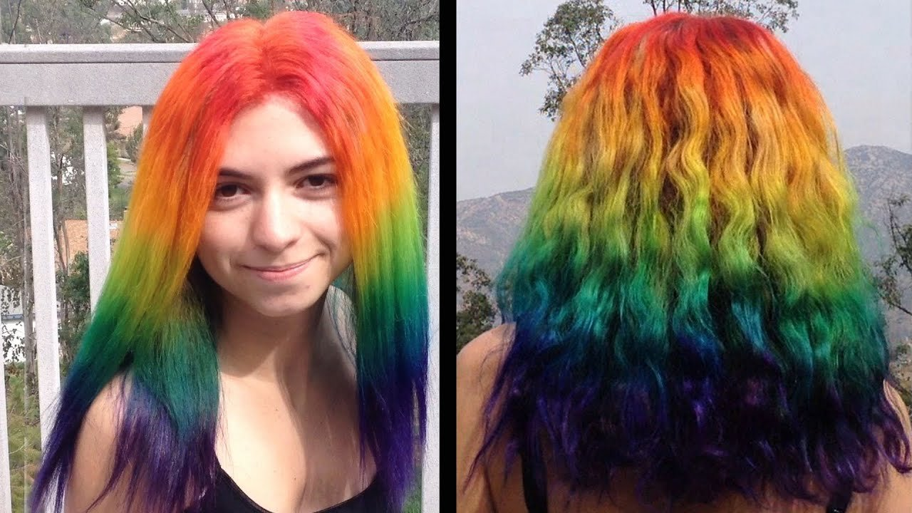 New How To Dye Your Hair Rainbow Youtube Ideas With Pictures