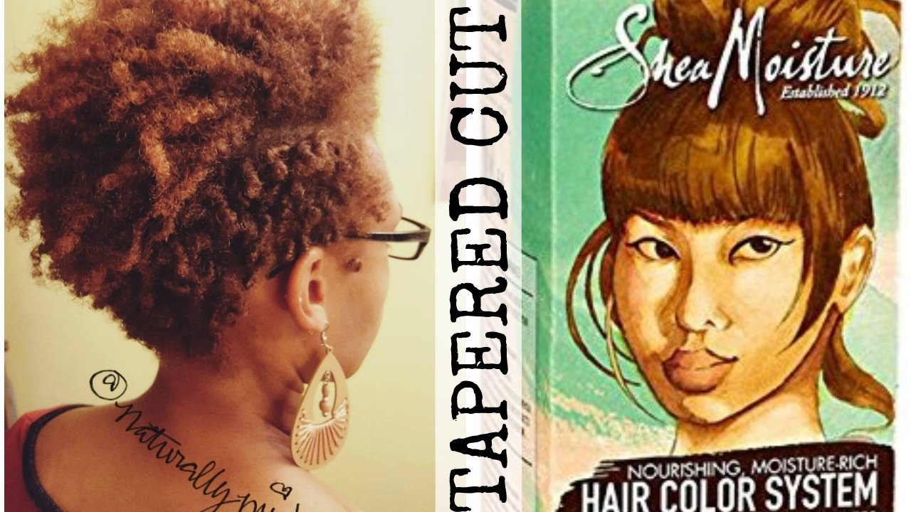 New Tapered Haircut And Color With Shea Moisture Hair Color Ideas With Pictures