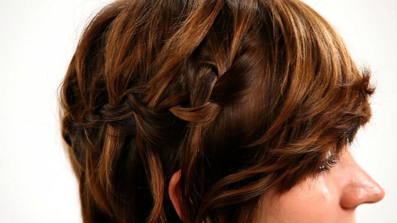 New How To Waterfall Braid Short Hair Short Hairstyles Youtube Ideas With Pictures