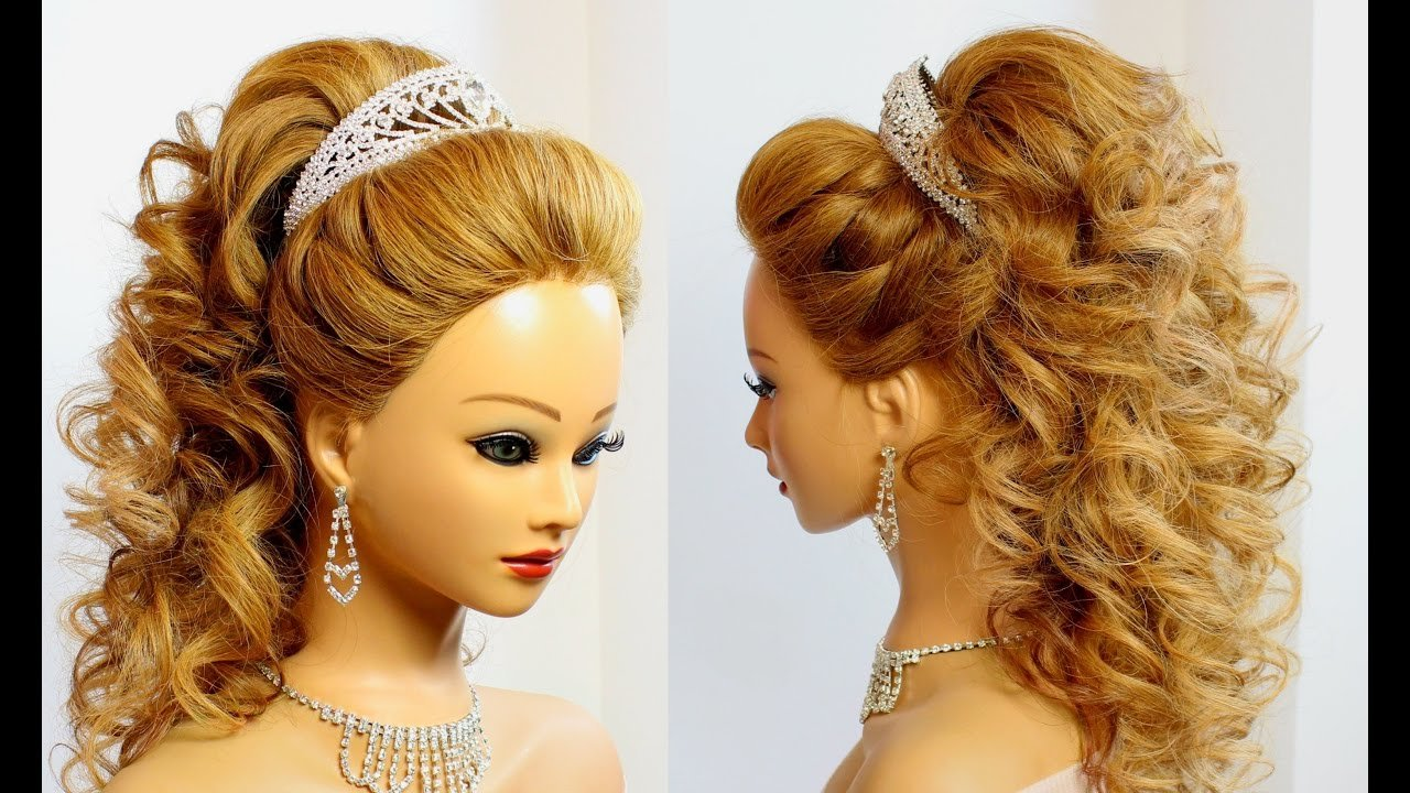 New Bridal Hairstyle For Long Hair Tutorial Youtube Ideas With Pictures