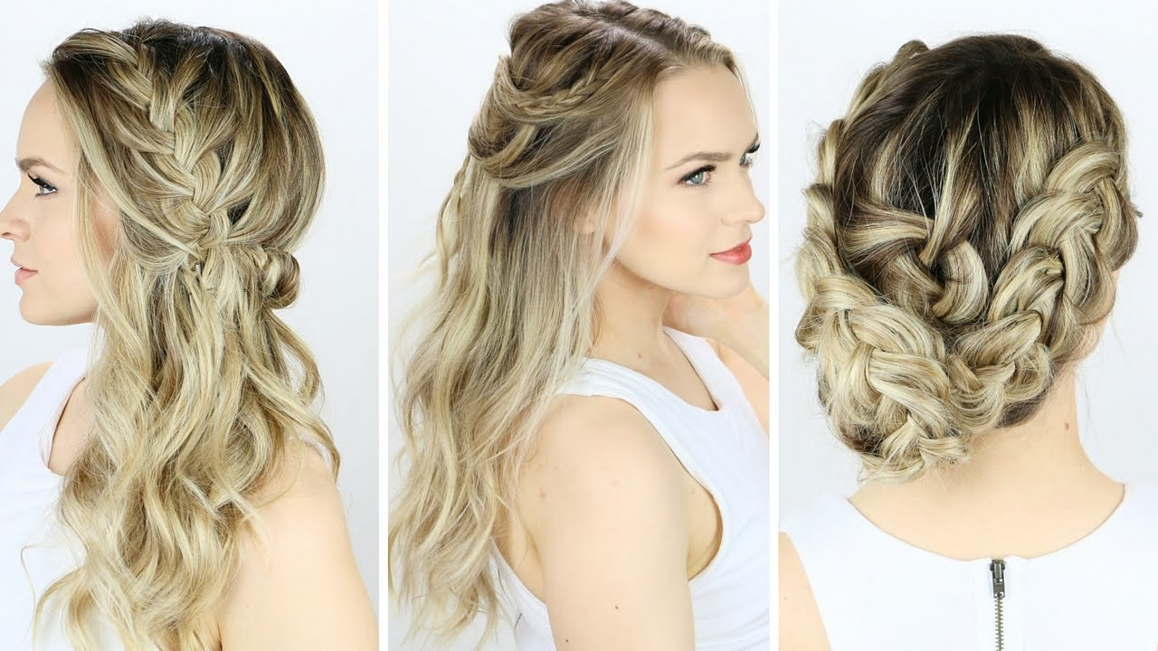 New 3 Prom Or Wedding Hairstyles You Can Do Yourself Youtube Ideas With Pictures